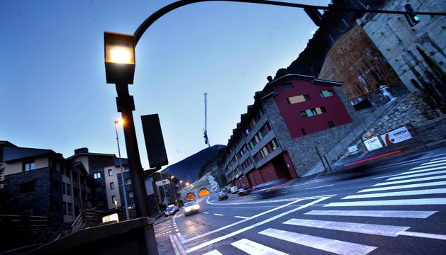 Radar fix a l'entrada d'Encamp abans d'arribar al túnel de Radio Andorra