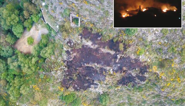 Extingit l'incendi a Canillo provocat per un coet