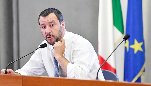 Matteo Salvini, ahir durant la seva visita a Líbia.