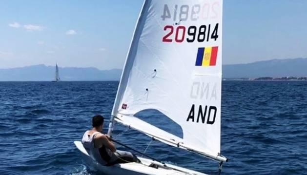 Gorka Arajol, en un entrenament dels Jocs Mediterranis a Tarragona.