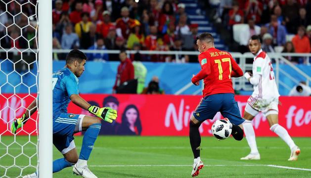 El gol de l'empat de Iago Aspas al descompte, que va pujar al marcador gràcies al VAR.