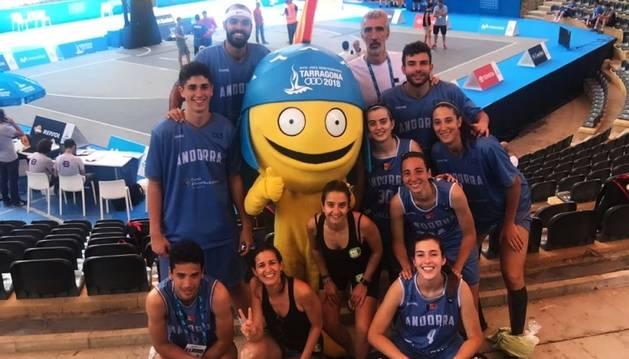 Els representants andorrans en bàsquet 3x3 a Tarragona.