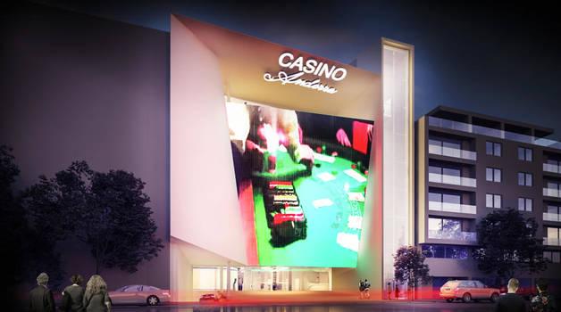 Simulació del projecte de casino que Jocs SA construirà al carrer Prat de la Creu.