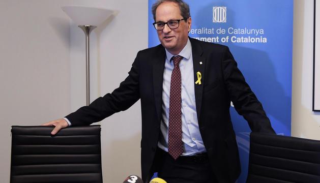 El president de la Generalitat, Quim Torra, aquest dimecres a Washington.