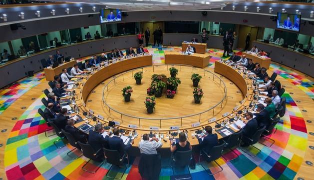 Vista general de la reunió de líders de la UE, ahir a Brussel·les.