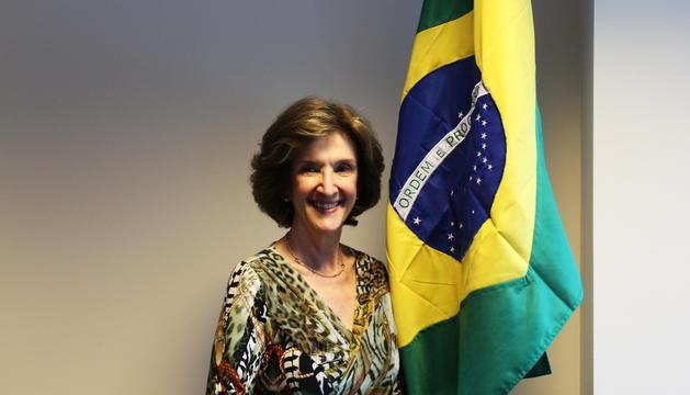La cònsol general del Brasil a Barcelona, Maria Elisa Berenguer.