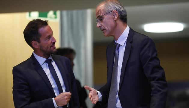 El conseller general del PS, Pere López, i el cap de Govern, Toni Martí