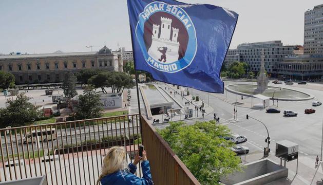Imatge de l'ocupació de Banco Madrid l'abril del 2017