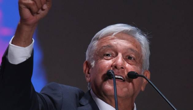 López Obrador, ahir.