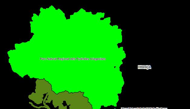 Àmbit territorial que abarcarà el Parc Pirinenc.