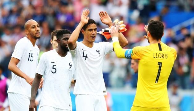 Els jugadors francesos celebrant un triomf.