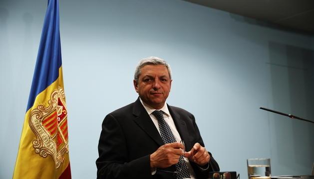 Xavier Bardina durant la presentació del resultat del concurs pel casino.