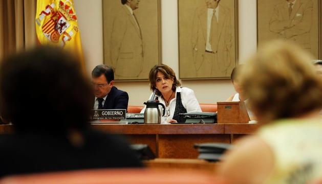 Dolores Delgado, ahir al Congrés dels Diputats.