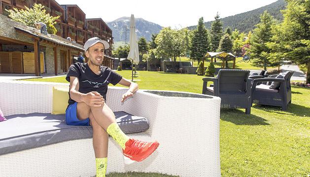 Marc Casal a la terrassa de l'hotel Nòrdic al Tarter