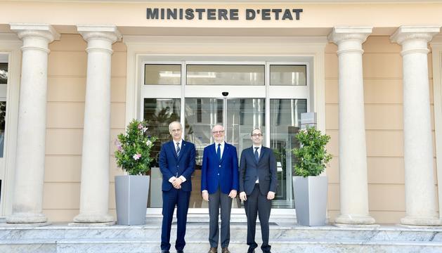 Antoni Martí, Serge Telle i Nicola Renzi a Mònaco