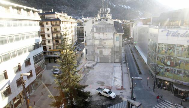 L'edifici es construirà on hi havia la seu comercial d'Andorra Telecom.