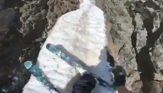 Captura del vídeo de Noah Albaladejo a Arcalís