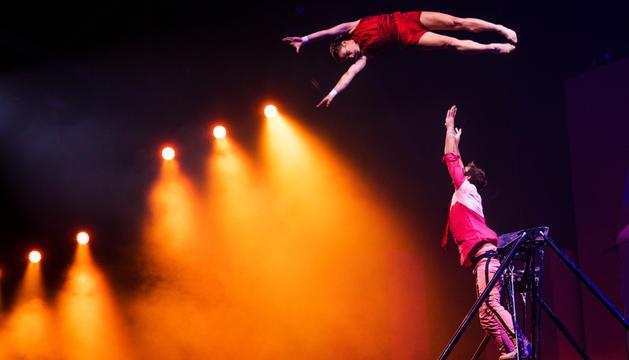 El president executiu del Cirque du Soleil, Jonathan Tétrault, va veure en persona l'espectacle d'ahir de 'Diva'.
