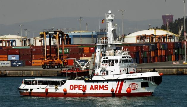 El vaixell d'Open Arms.