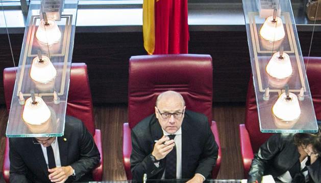 El cònsol major de Canillo, Josep Mandicó, al comú.