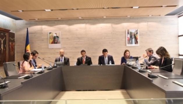 Un moment del consell de comú d'Ordino celebrat aquest dilluns al migdia