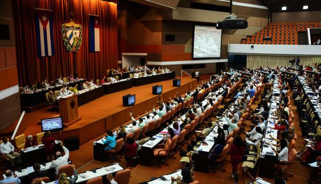 Vista general de la sessió plenària de l'Assemblea Nacional.