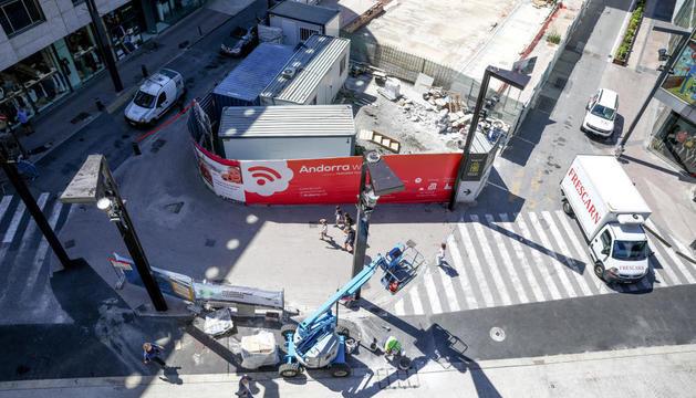 Imatge aèria de la parcel·la prevista per a The Cloud i on es faran les obres d'embelliment.