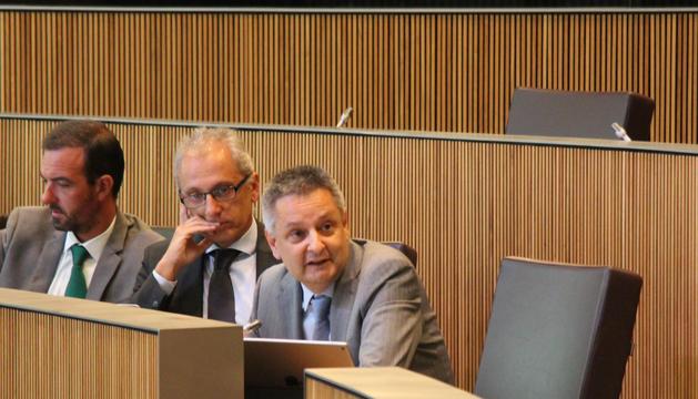 El ministre d'Economia, Competitivitat i Innovació, Gilbert Saboya, durant la sessió de Consell General.