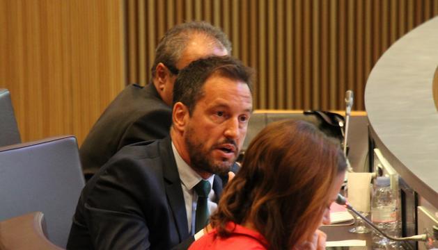 El conseller general del PS, Pere López, avui al Consell General