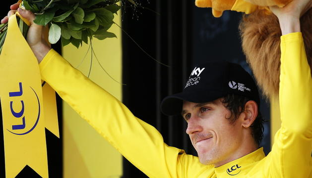Geraint Thomas, guanyador del Tour de França 2018.