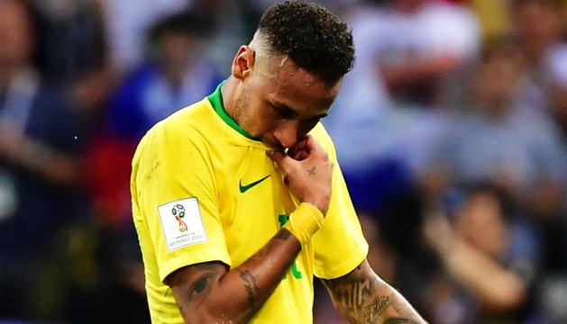 Neymar, en un partit amb la selecció del Brasil.