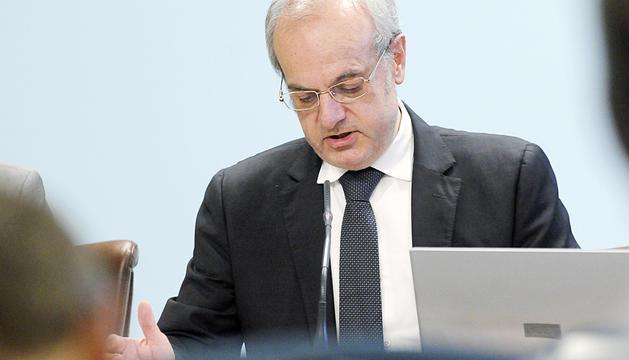 Carles Álvarez, en la roda de premsa posterior al consell de ministres.