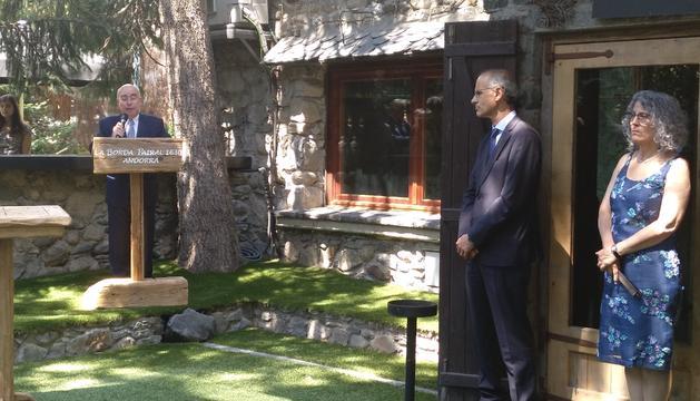 Manuel Montobbio durant el discurs de comiat com a ambaixador espanyol