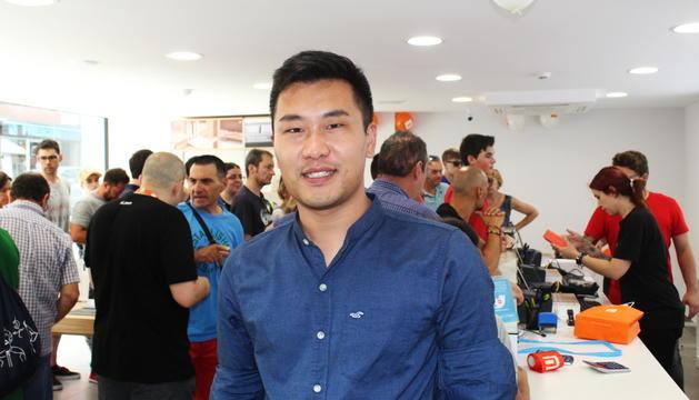 Yuan Wang Xiren ahir durant la inauguració de la primera botiga Xiaomi al Principat.