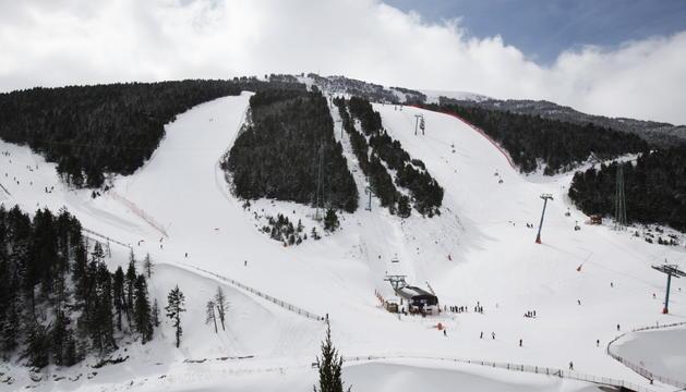 Pistes d'esquí de l'estació de Soldeu, a Grandvalira.