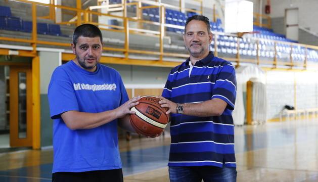 Xavi Luque, dreta, amb Jaume Tomàs, coordinador.