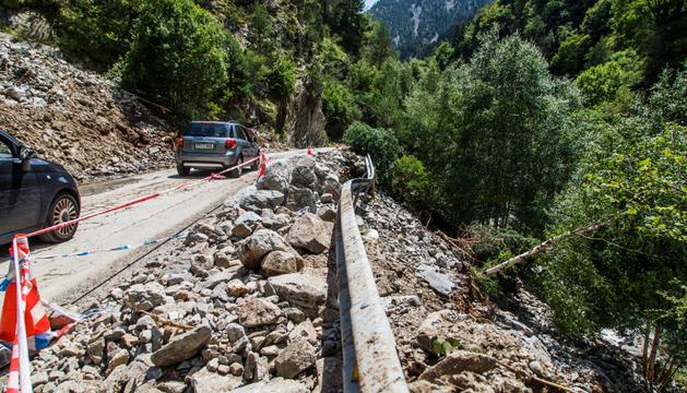 Una part de la carretera de Sispony s'haurà de reconstruir