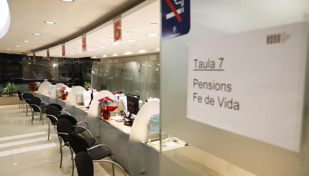 L'interior de les dependències de la CASS, al carrer Joan Maragall de la capital.