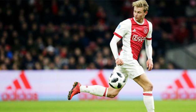 Frenkie de Jong, en un partit amb l'Ajax.