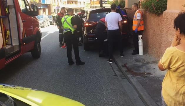 L'accident es va produir ahir a l'avinguda Sant Antoni.