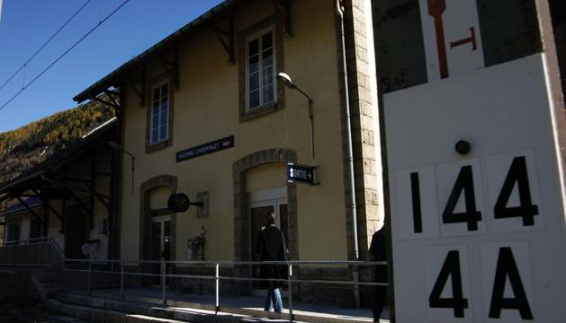 L'estació de tren de la localitat francesa de l'Ospitalet.