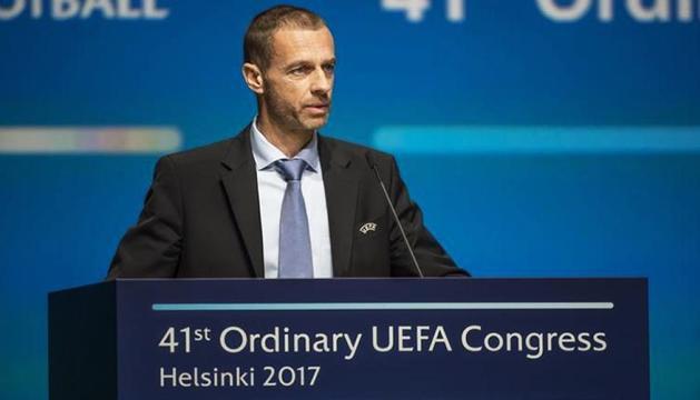 El president de la UEFA, Aleksander Ceferin.