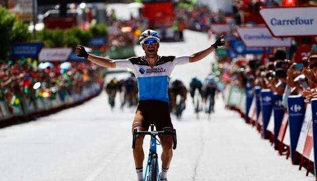 Tony Gallopin, guanyador de l'etapa d'ahir.
