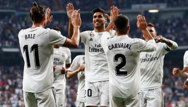 El Reial Madrid va superar el Leganés, ahir.