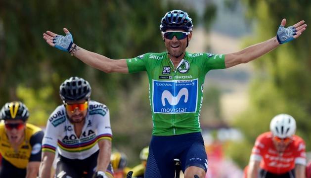 Alejandro Valverde va sumar la segona victòria a la Vuelta.