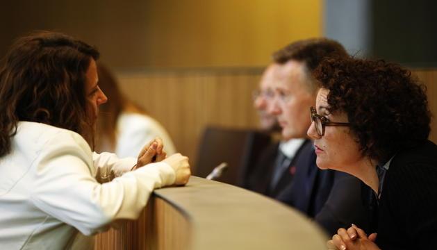 Les conselleres generals Rosa Gili i Judith Pallarés.