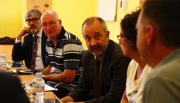 A l'esquerra Josep Gómez i a la dreta Lluís Burgués.