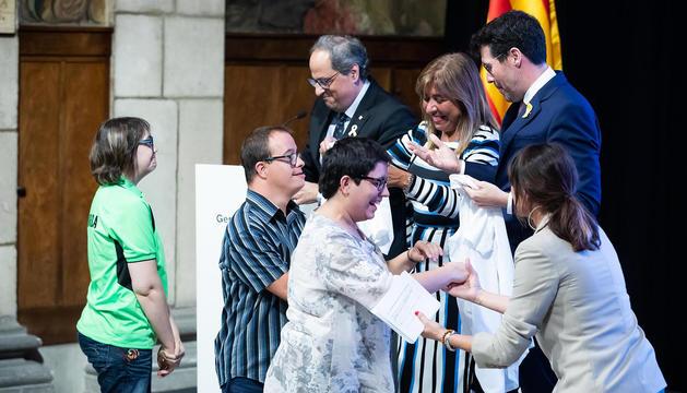 Acte de presentació dels Jocs Special Olympics 2018 al Palau de la Generalitat