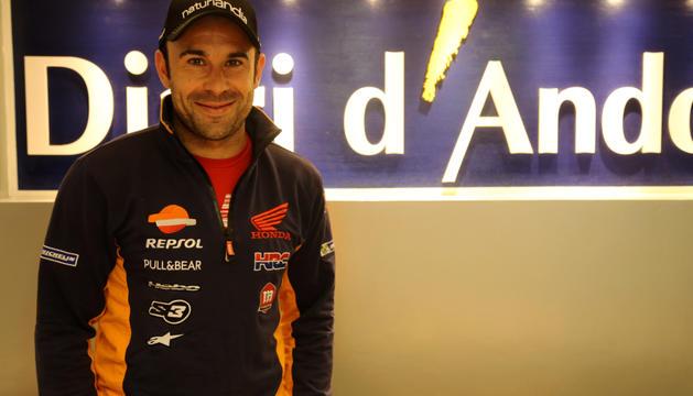 El 24 vegades campió del món, Toni Bou, a la redacció del Diari d'Andorra