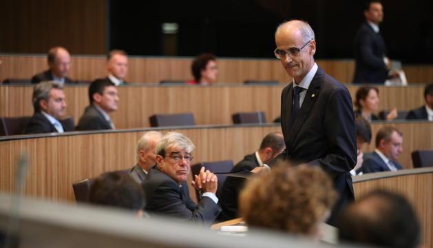 El cap de Govern, Toni Martí, es va adreçar ahir als consellers generals
